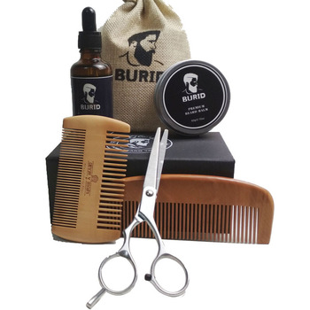 2019 US Amazon di Vendita Caldo Private Label Barba Set Regalo Cura Barba Grooming Kit