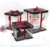 Free Sample Red Ribbon Black Transparent 4/6/8/10/12 Inch Double Height Birthday Cake Gift Box