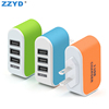 Universal Travel Adapter Portable LED 3 Ports Usb Plugs Charging Cell Phone Wall Charger Travel Power Adapter