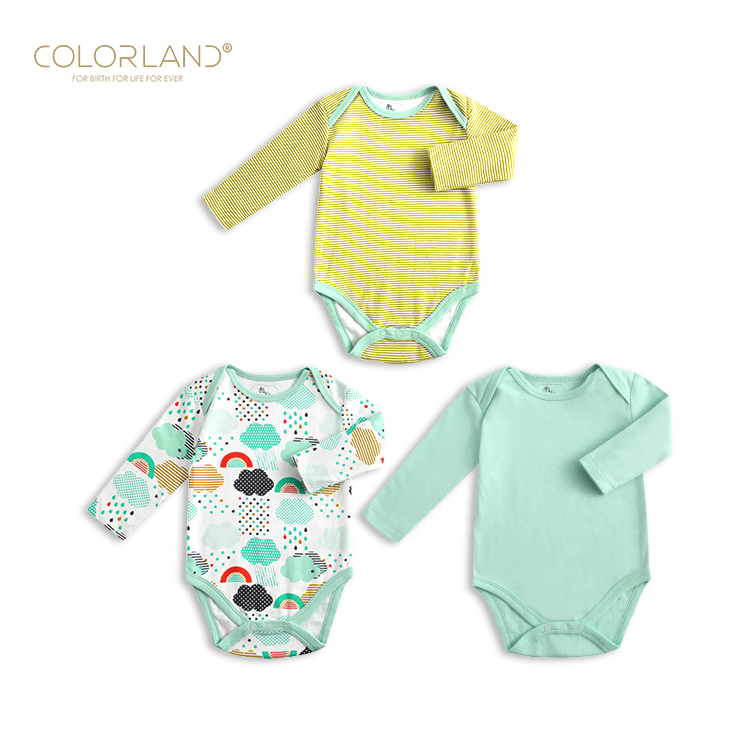 Hotselling Soft breathable romper long baby cotton romper clothes, As picture/customized