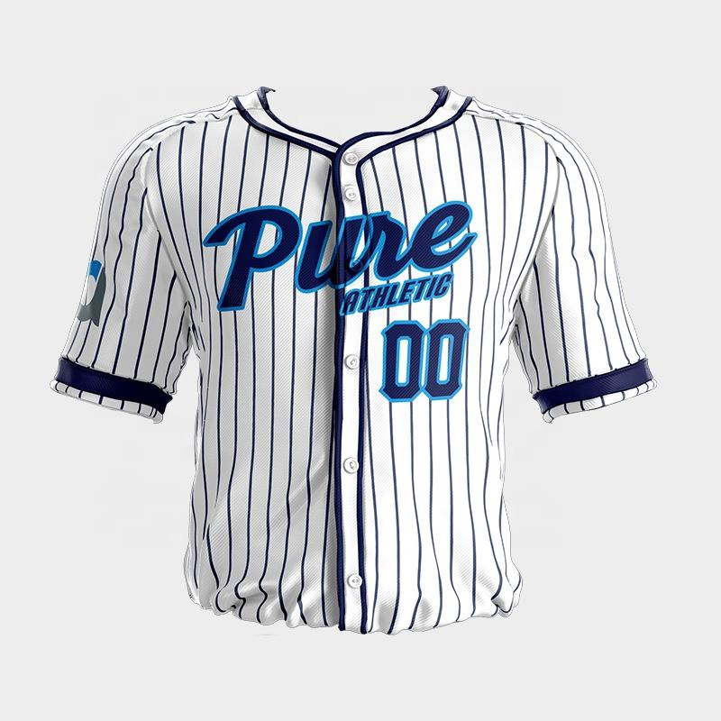 PURE 2019 custom gesublimeerd streep baseball jersey UNIFORM