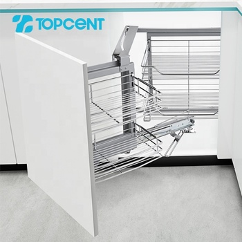 Topcent functional kitchen fittings cabinet magic corner wire drawer basket
