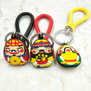 Key Shape Souvenir Soft Pvc Rubber Plastic Silicon Keyring Chain Promotional Gifts Christmas Promotion Silicone Custom Keychains
