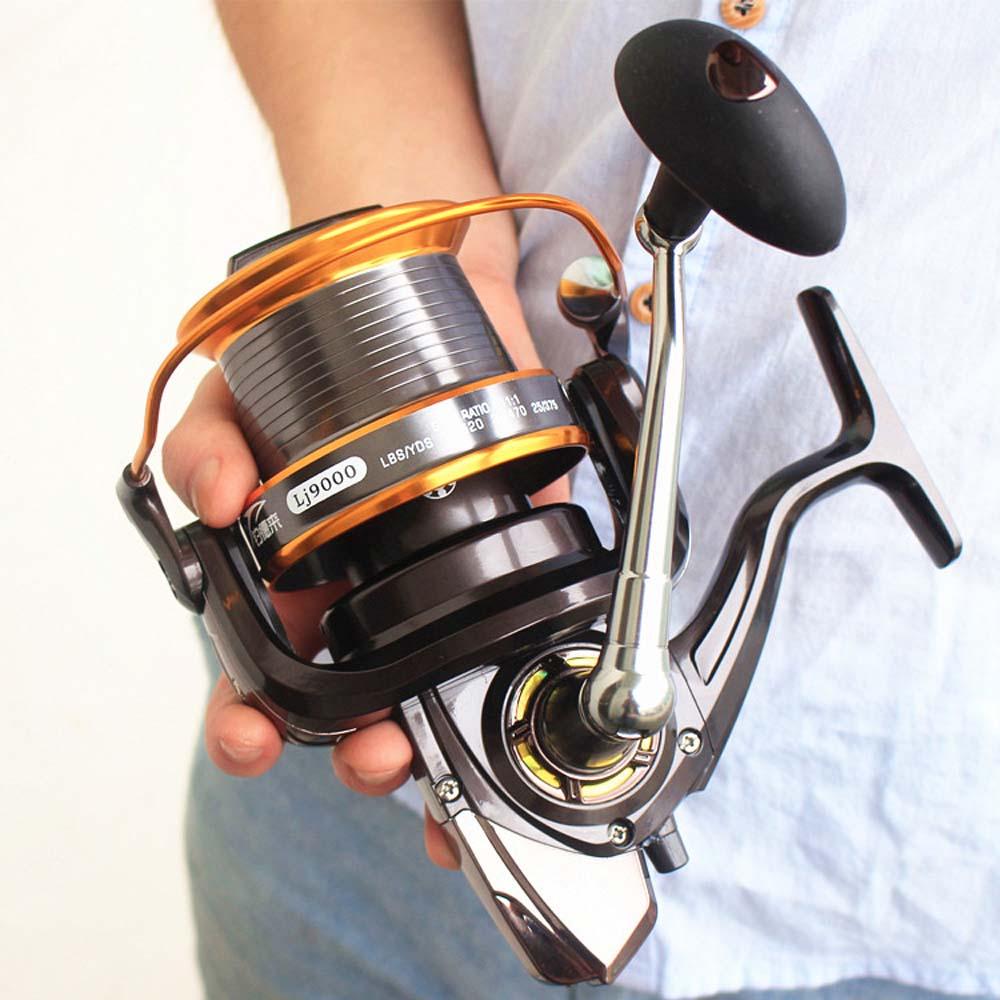 12+1BB 5.5:1 Full Metal Fish Feeder Spinning Reel Saltwater Deep Sea Fishing Reels