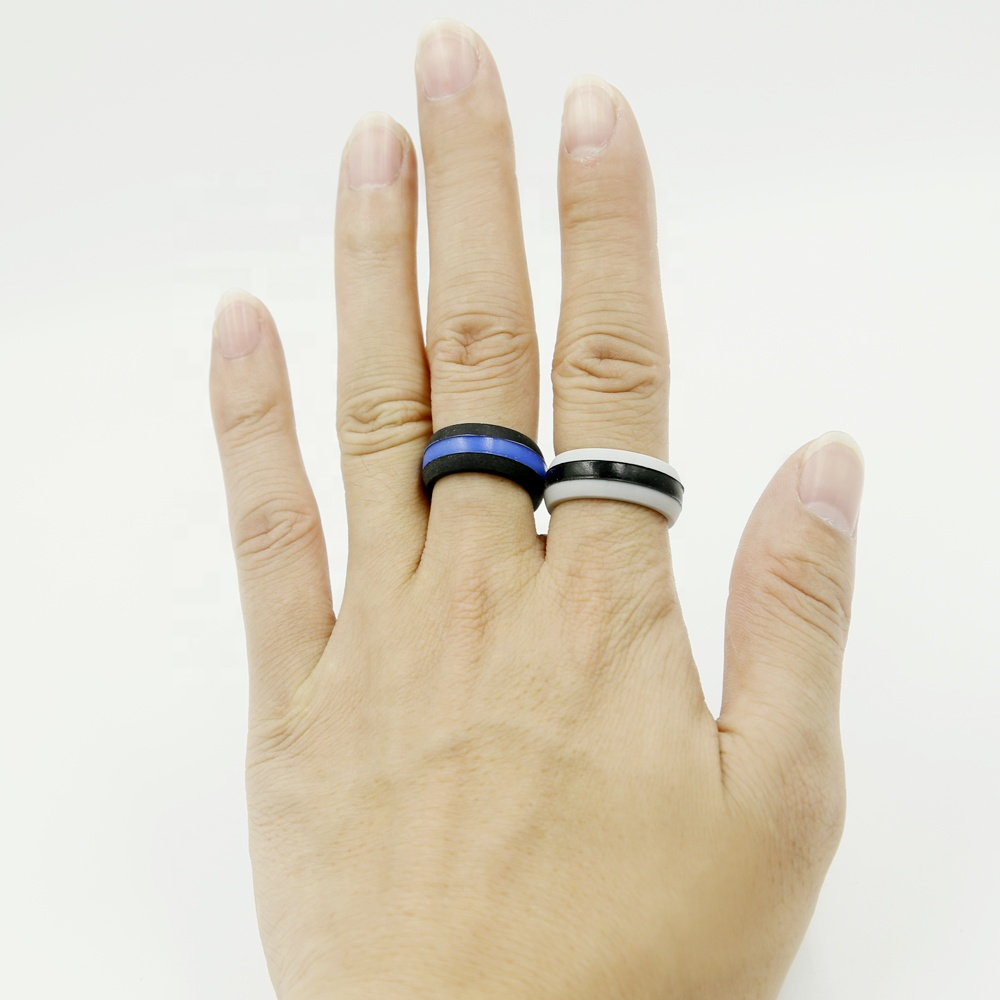 Custom Embossed Silicone Rubber Wedding Finger Ring фото