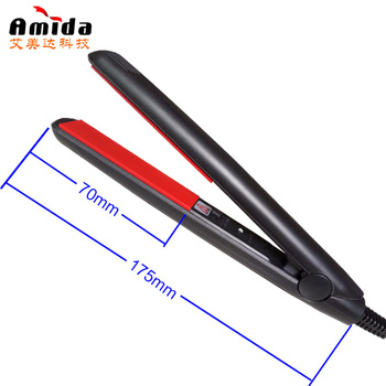 Custom Ceramic Mini Travel Flat Iron 100-240V Dual Voltage for hair
