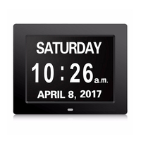 Alarms Dementia Clock Large Display Digital Calendar Day Clock for Vision Impaired Elderly Memory Loss