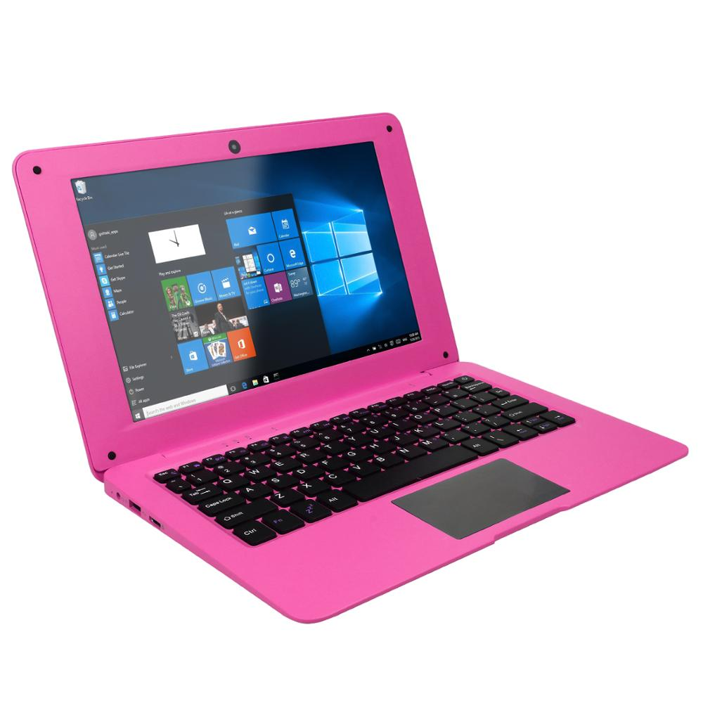 2019 New pink arrival Intel 10.1 inch 1280*800 IPS notebook Win 10 OS pink <strong>laptop</strong>