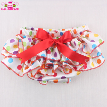 Satin Baby Birthday Tutu Cake Smash Diaper Cover Colorful Polka Dots Tutu Bloomers