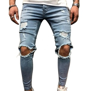 A12NK48 Europe and the United States New Quality Stretch Cowboy Jeans