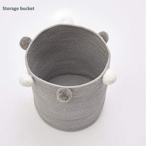 INS New Arrival 100% Cotton Rope Storage Basket for Dirty Clothes Toys Collection Box Storage