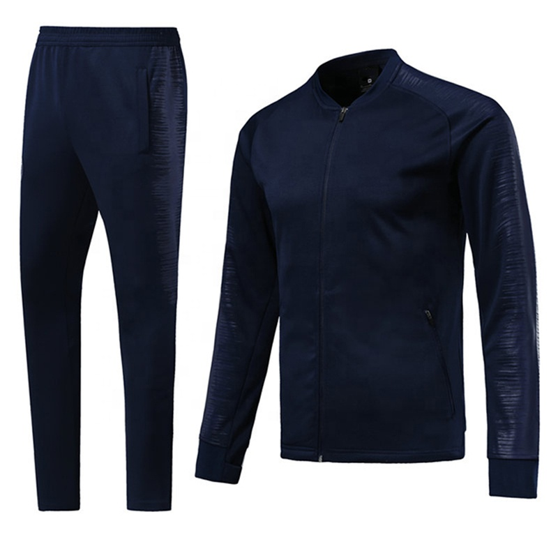 Custom Wholesale Soccer Warm Up Jacket Sports Training Tracksuits for Man Adults, Any color is available
