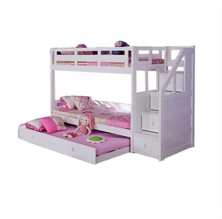 Twin Over Twin Bunk Bed With Trundle Stairs Cheap Bunk Beds Buy Wholesales Bed Bedroom Furniture Simple Double Bed Wooden Wood Bed Bedroom Furniture Set Kids Wood Car Beds Product On Alibaba Com