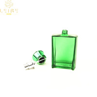 New excellent design transparent painted colored empty perfume glass bottle 30ml 50ml 100ml rectangular perfume glass atomizer