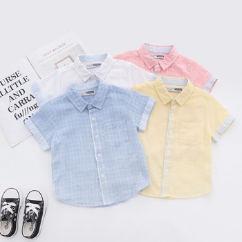 Summer Boys Shirt Kids Shirts Fashion Cotton Soft Short Sleeve Baby Boy Shirt For Children Clothes