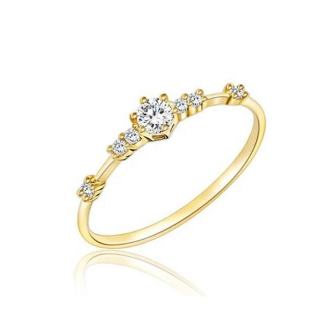 Amazon Hot Sale Wholesale Simple Fashion Cheap Simple Gold Ring Designs Crystal Women Wedding Engagement Ring Gold Silver Rose Gold Buy At The Price Of 0 98 In Alibaba Com Imall Com