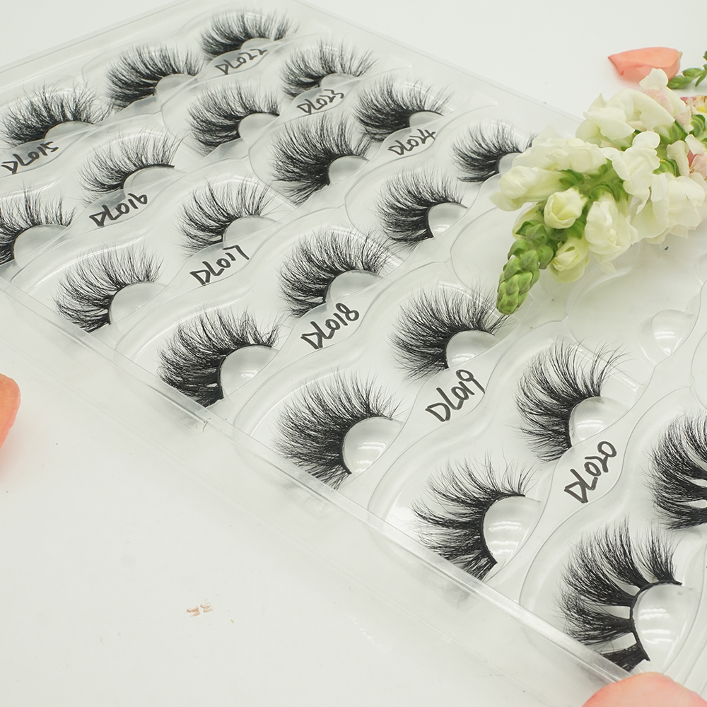 Fluffy lashes 25 mm 5d siberian mink lashes custom package flower фото