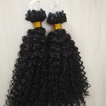 Hot kinky curly micro ring hair extensions , Cheap afro kinky curly micro loop hair extension,wholesale micro link hair