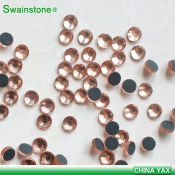M0703  low lead gems diamond 20ss 12ss hot fix rhinestones predreria flatback lt peach strass