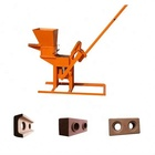 manufacture sale qmr2-40 hand press manual double side brick machine