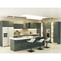 Factory good quality high gloss modern used kitchen cabinets