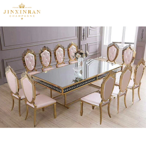 Hotel Dining Table Set Modern 12 Seater With Marble Top