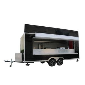 Custom Mobile Street Fast Vending Carts Fast Food Truck Used Car Van Ice Cream Cart Trailers with Freezer for Sale Europe