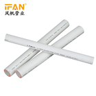 White and green PN12.5/16/20/25 full size Ifan Pure-plastic ppr plastic fittings pipe