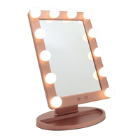 Lighted Vanity Mirror with Dimmable LED Bulbs, Hollywood Style Makeup Mirror with Lights for Touch Control 3 Different Lighting