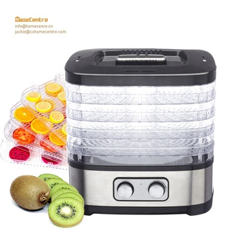 Electric Mechanical control Stainless steel Food Dehydrator with power 500W