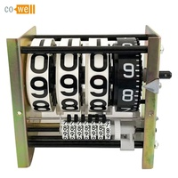 Cowell mechanical register counter for flow meter