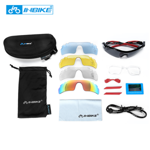 INBIKE Cheap Custom PC UV400 Bike Polarized Sports Eyewear Cycling Sunglasses