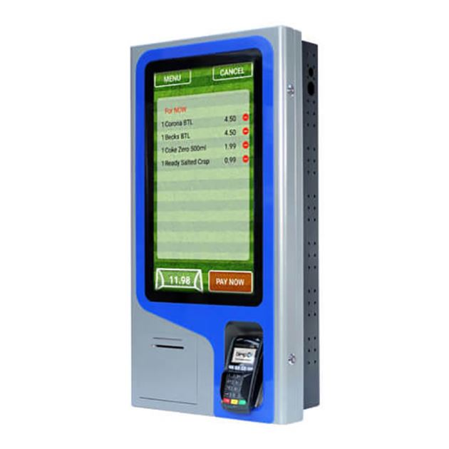 Indoor self kiosk payment machine accept cash /coin /bank card payment