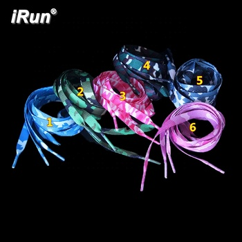 iRun Charm Polyester Flat Shoelaces - Camouflage Pattern Shoes Laces - Printed Skating Walking Galaxy Shoelaces