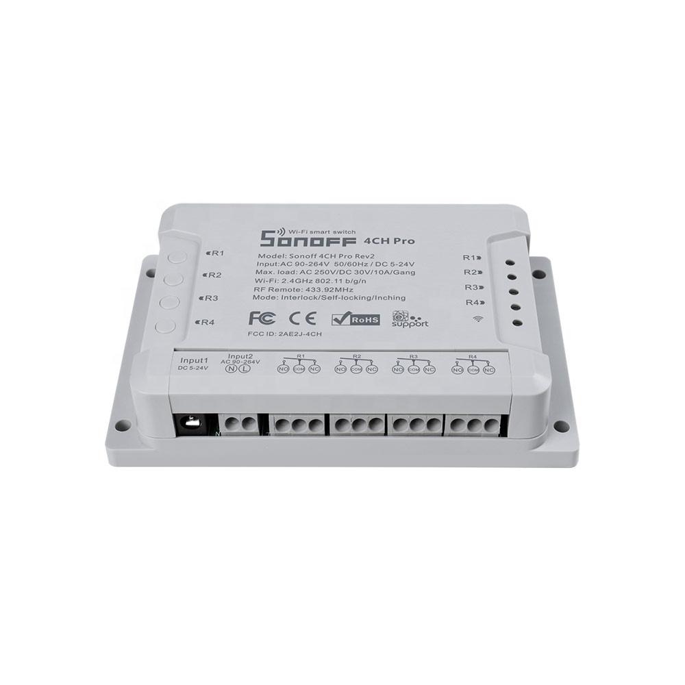 SONOFF 4CH Pro R2 4 Gang Smart Wifi 433 MHZ RF Remote