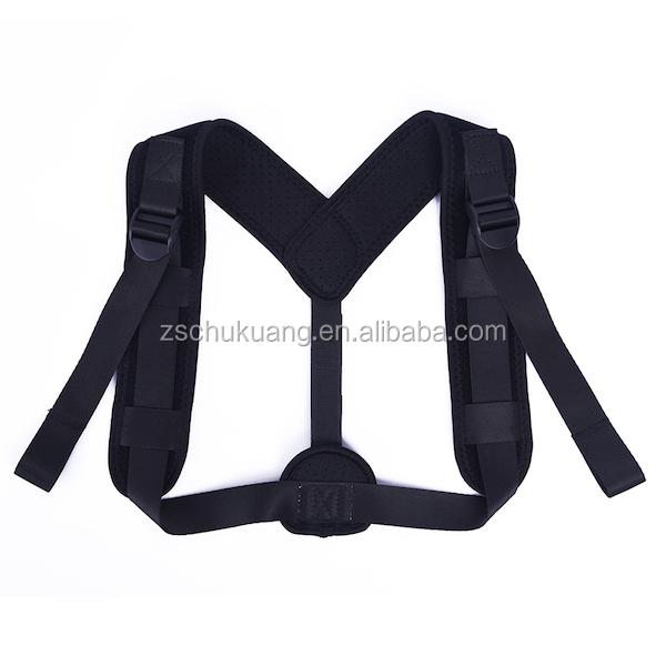 Top Sales Premium Unisex Neoprene Posture corrector Brace for Slouching Neck Pain Relief supporter brace, Black;red