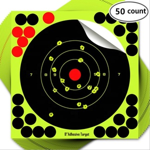 Hybsk Targets 8 inch Reactive Self Adhesive Shooting Targets Bright  Fluorescent Yellow Target Pasters