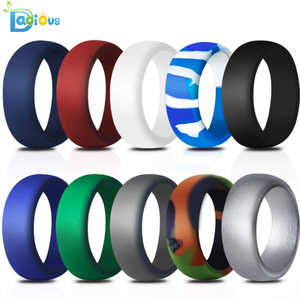 Mens silicone wedding band womens thunderfit  silicone ring