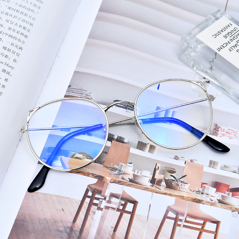 Morglow LH-003 metal blue ray light blocking glasses wholesale moon eyewear brands very luxury