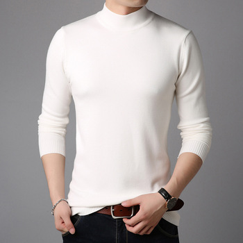 Wholesale high quality super soft casual style long sleeve knitted pullover man sweater