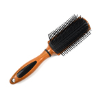 Fancy hot sale unique comfortable durable wood color hair brush customized logo available massage styling brush
