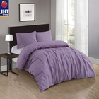 JHT Washable Linen Cotton Bed Sheet Set Bedding Queen King Size Comforter Set Bedding