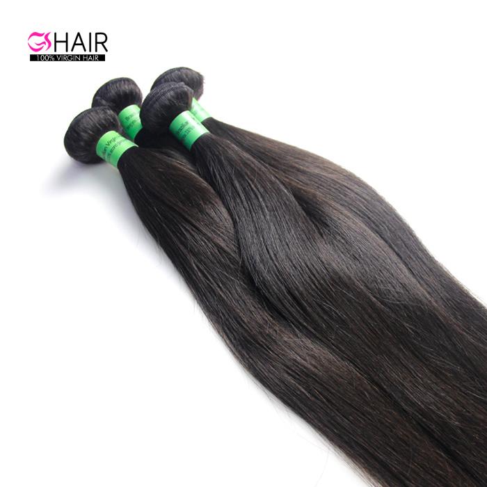 Mink Free Sample Human Hair Weave Bundles 8A 9A 10A Grade Mink Brazilian Hair Silky Virgin Brazilian Straight Hair, Natural color #1b