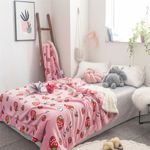 Cartoon printing spring thickened flannel blanket