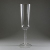 High Quality China Factory Custom Printing Champagne Flutes Plastic Wine Glass Cup Goblet ,Disposable Plastic Cup