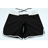Girls blank black mma fight shorts
