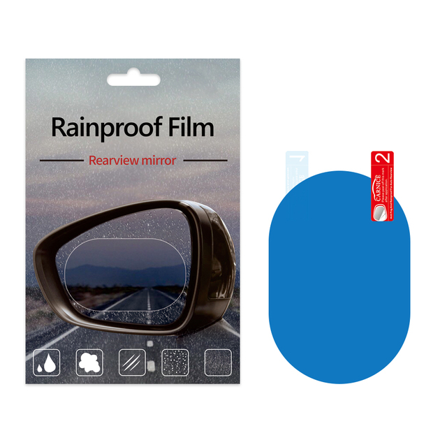 2PCS In One Anti Rain Anti Fog Film For Car Rear View Mirror Clear Waterproof Screen Protector, 95*95mm 135*95mm 150*100mm