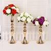 3 Colors Centerpiece Event Birthday Party Home Decor Flower Vase Rack Candle Stands Wedding Table Road Lead Golden Metal Pillar