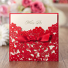 WISHMADE chinese wedding invitation card red with Envelope for Wedding Quinceanera Baby Shower Anniversary Party Sample