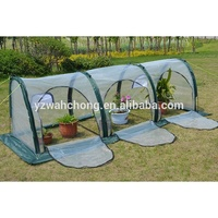 1m 2m Folding Vegetable Greenhouse Plant Outdoor Grow Tent Tunnel Greenhouse